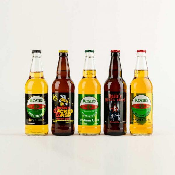 Mixed case of bottled cider